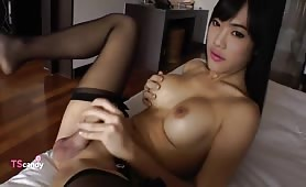 Pretty asian tgirl
